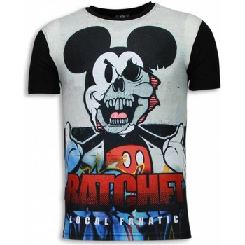 Textiel Heren T-shirts korte mouwen Local Fanatic Ratchet Mickey - Digital Rhinestone T-shirt 38