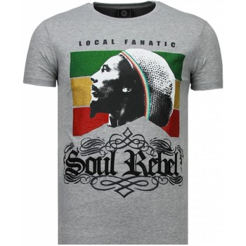 Textiel Heren T-shirts korte mouwen Local Fanatic Soul Rebel Bob - Rhinestone T-shirt 35