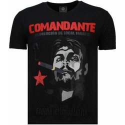 Textiel Heren T-shirts korte mouwen Local Fanatic Che Guevara Comandante - Rhinestone T-shirt 38