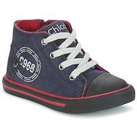 Schoenen Jongens Hoge sneakers Chicco CRITTER Marine / Zwart / Rood
