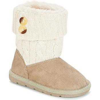 Schoenen Meisjes Laarzen Chicco CHARME Beige / Bruin