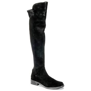 Schoenen Dames Lieslaarzen Buffalo NUPAN Zwart