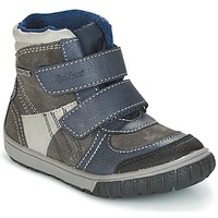 Schoenen Jongens Snowboots Kickers SITROUILLE Grijs / Donker / Blauw