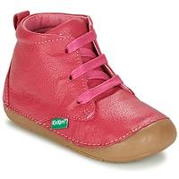 Schoenen Meisjes Laarzen Kickers SONICE Fushia