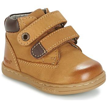 Schoenen Jongens Laarzen Kickers TACKEASY Camel