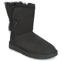 Schoenen Dames Laarzen UGG BAILEY BUTTON II Zwart