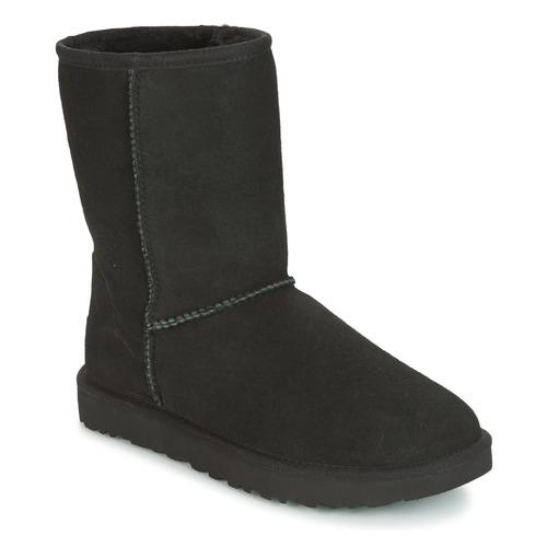 Schoenen Dames Laarzen UGG CLASSIC SHORT II Zwart
