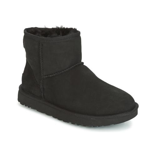 Schoenen Dames Laarzen UGG CLASSIC MINI II Zwart