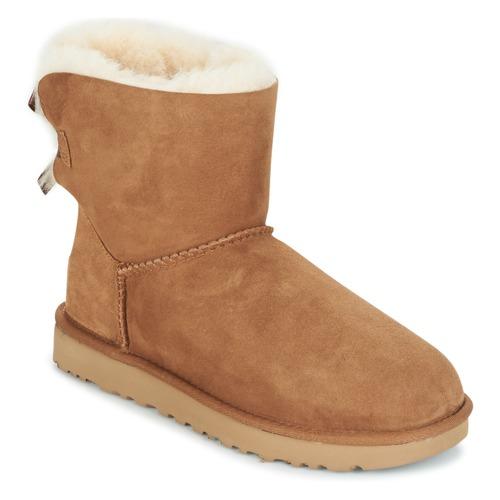 Schoenen Dames Laarzen UGG MINI BAILEY BOW II Camel