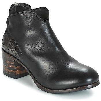 Schoenen Dames Laarzen Moma CUSNA NERO/ TALON TACO MIX, ARRIRE AFRICA Zwart / Zilver