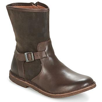 Schoenen Dames Laarzen Kickers CREEK Bruin / Donker