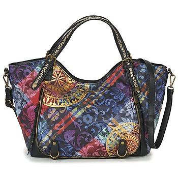 Tassen Dames Handtassen kort hengsel Desigual BOLS_ROTTERDAM TRANSFLORES Zwart / Multi