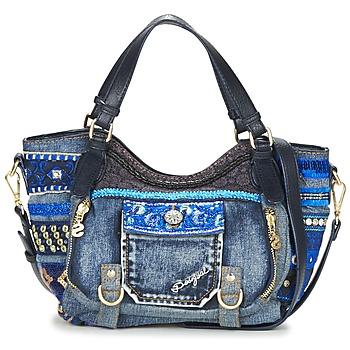 Tassen Dames Handtassen lang hengsel Desigual BOLS_ROTTERDAM MINI EXT.EXOTIC Zwart / Denim