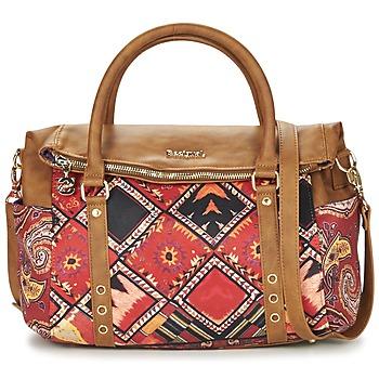 Tassen Dames Handtassen kort hengsel Desigual BOLS_LOVERTY  BOHO Camel / Multi