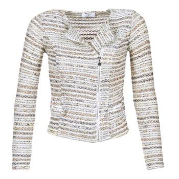 Textiel Dames Jasjes / Blazers Le Temps des Cerises MIRABEAU Beige / Wit