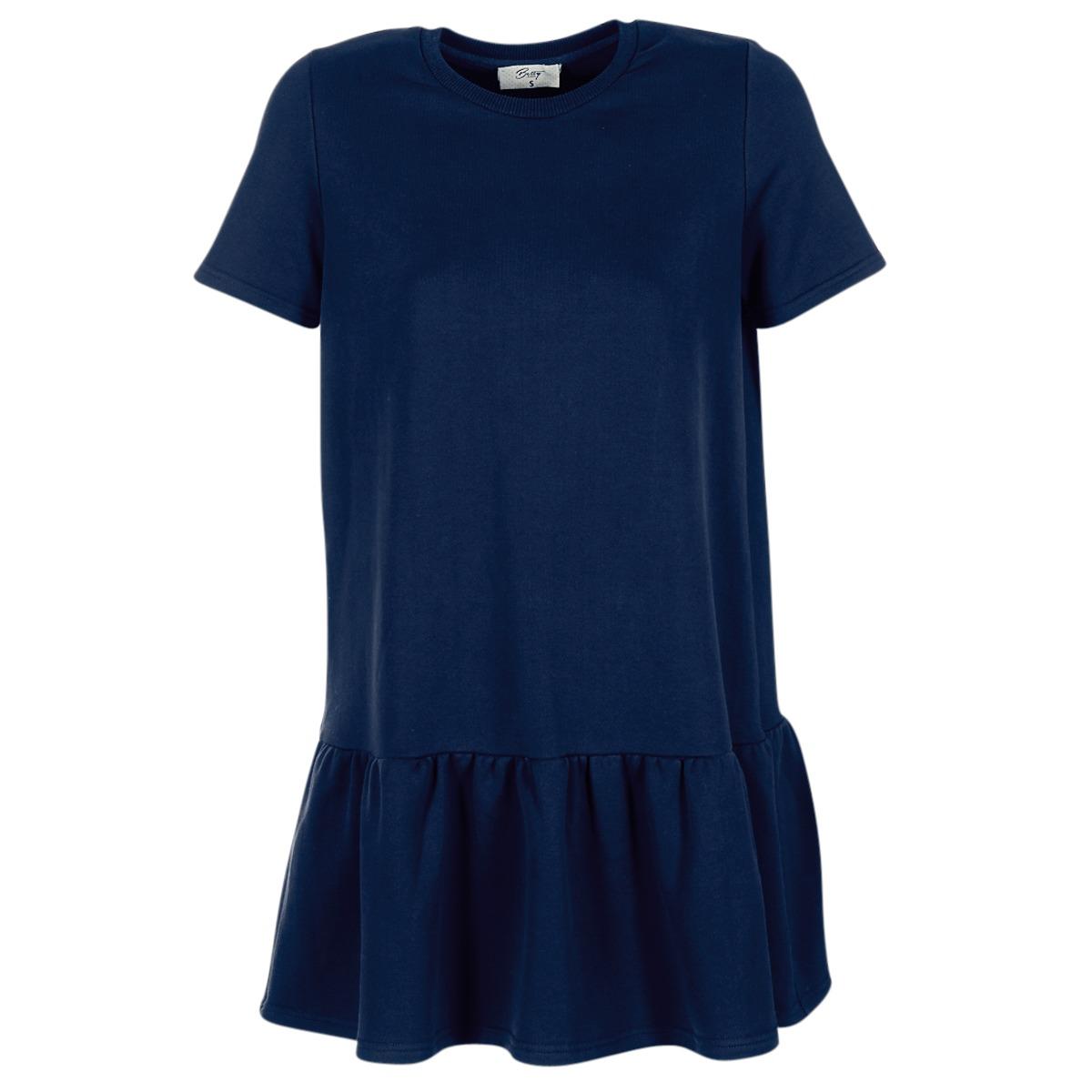 Betty London korte jurk homa blauw