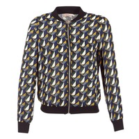 Textiel Dames Wind jackets Moony Mood HARIO Zwart / Blauw / Geel