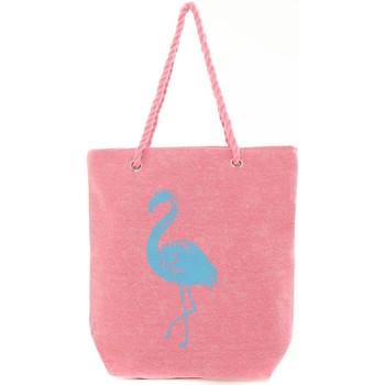 Tassen Dames Tote tassen / Boodschappentassen Mora Mora Sac Flamingo Rose Roze
