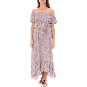 Textiel Dames Lange jurken By La Vitrine Robe Longue Care  of you Fleuri Rose F50035 Roze