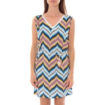 Textiel Dames Korte jurken By La Vitrine Robe Lili & Lala  Bleu Blauw