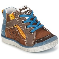 Schoenen Jongens Hoge sneakers Babybotte AKRO Bruin / Blauw
