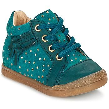 Schoenen Meisjes Hoge sneakers Babybotte FALSIFI Turquoize / Goud