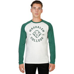 Textiel Heren T-shirts met lange mouwen Oxford University T-shirt Groen