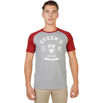 Textiel Heren T-shirts korte mouwen Oxford University T-shirt Rood