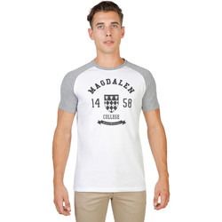 Textiel Heren T-shirts korte mouwen Oxford University T-shirt Grijs