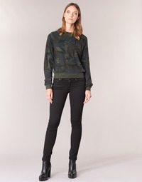 Textiel Dames Straight jeans G-Star Raw MIDGE SADDLE MID STRAIGHT Zwart