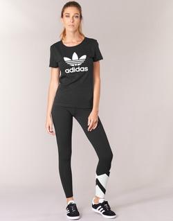 Textiel Dames Leggings adidas Originals EQT LEGGINGS Zwart / Wit