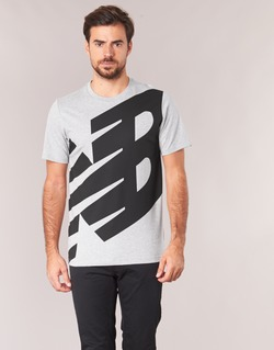 Textiel Heren T-shirts korte mouwen New Balance NB ESSENTIEL T Grijs