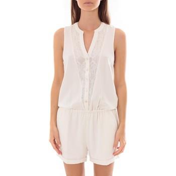 Textiel Dames Jumpsuites / Tuinbroeken LPB Woman Les Petites bombes Combi Short  Dentelle Blanc  S175703 Wit