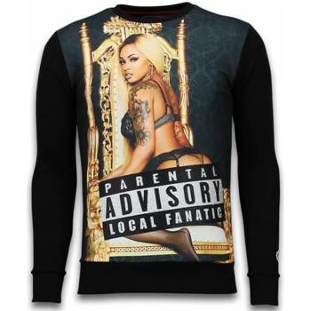 Textiel Heren Sweaters / Sweatshirts Local Fanatic Parental Advisory - Digital Rhinestone Sweater 38
