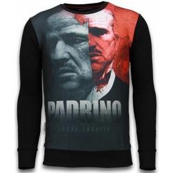 Textiel Heren Sweaters / Sweatshirts Local Fanatic El Padrino Two Faced - Digital Rhinestone Sweater 38