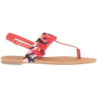 Schoenen Dames Sandalen / Open schoenen Cassis Côte d'Azur Ella entre doigt bridées et Pompons Red Rood