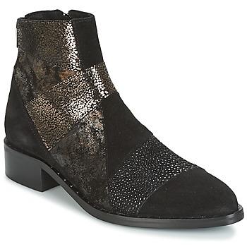 Schoenen Dames Laarzen Philippe Morvan SILKO V1 CR VEL NOIR Zwart