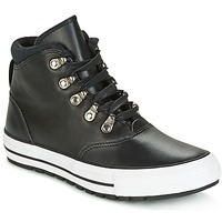 Schoenen Dames Hoge sneakers Converse CHUCK TAYLOR ALL STAR EMBER BOOT SMOOTH LEATHER HI BLACK/BLACK/W Zwart / Wit