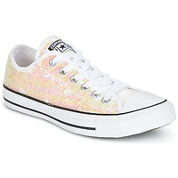 Schoenen Dames Lage sneakers Converse CHUCK TAYLOR ALL STAR SEQUINS OX WHITE/BLACK/WHITE Wit / Pailletten