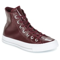 Schoenen Dames Hoge sneakers Converse CHUCK TAYLOR ALL STAR CRINKLED PATENT LEATHER HI DARK SANGRIA/DA Viininpunainen