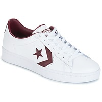 Schoenen Heren Lage sneakers Converse PL 76 FOUNDATIONAL LEATHER WITH ELEVATED DETAILING OX WHITE/DEEP Wit / Bordeau