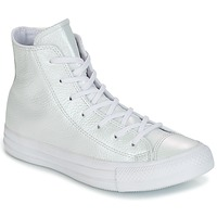 Schoenen Dames Hoge sneakers Converse CHUCK TAYLOR ALL STAR IRIDESCENT LEATHER HI IRIDESCENT LEATHER H Valkoinen