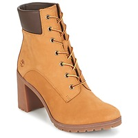 Schoenen Dames Enkellaarzen Timberland ALLINGTON 6IN LACE UP Bruin