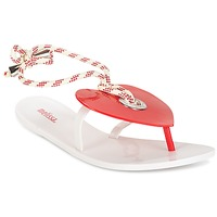 Schoenen Dames Teenslippers Melissa BLISS II SP AD Wit / Rood