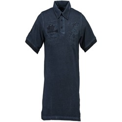 Textiel Heren Polo's korte mouwen Geographical Norway KABUTO Polo shirt short sleeves Men blue NAVY blue NAVY