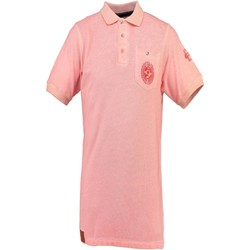 Textiel Heren Polo's korte mouwen Geographical Norway KAUCUN Polo shirt short sleeves Men pink CORAIL pink CORAIL