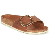 Schoenen Dames Leren slippers Birkenstock MADRID BIG BUCKLE Bruin