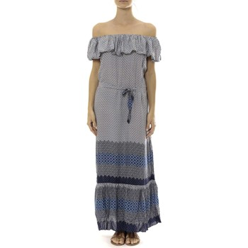 Textiel Dames Lange jurken By La Vitrine Robe Longue Care  of you Bleu Blauw