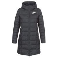Textiel Dames Dons gevoerde jassen Nike DOWN FILL PARKA Zwart / Wit