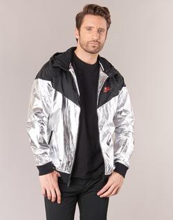 Textiel Heren Windjack Nike WINDRUNNER METALLIC Zwart / Zilver